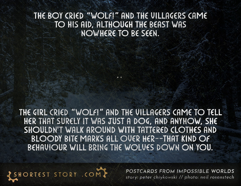 a short story about a village that believes wolves instead of women
