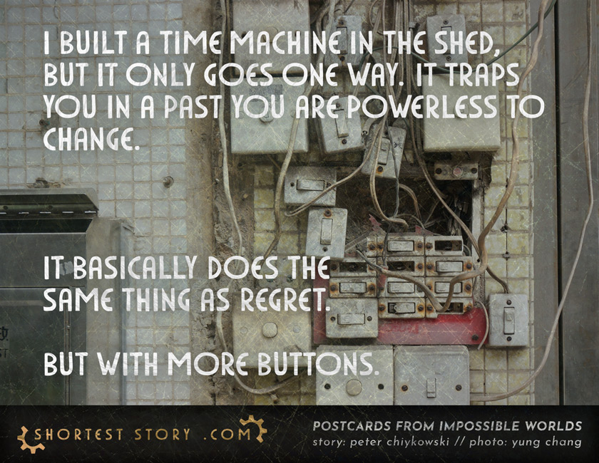 a short story about the time machine in the shed